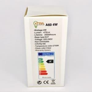 A60 E27 4W filament 2700K verpakking
