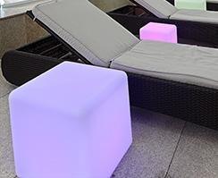 Cube 40x40cm oplaadbaar paars
