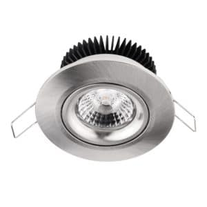 Downlighter 8W 2000-2800K dimbaar Nikkel
