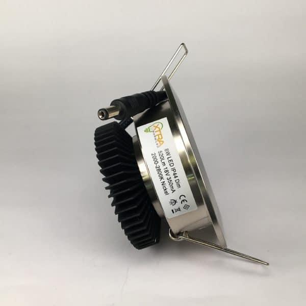 Downlighter Spot IP44 8W 38° dimbaar 2000-2800K driver
