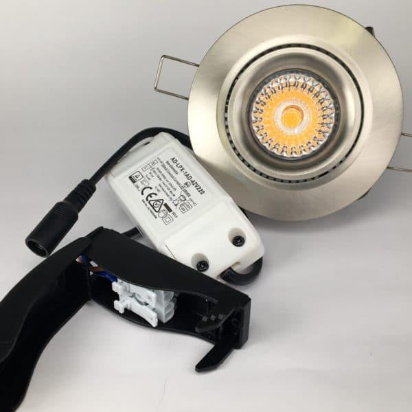 Downlighter Spot IP44 9W 38° 2700K nikkel set