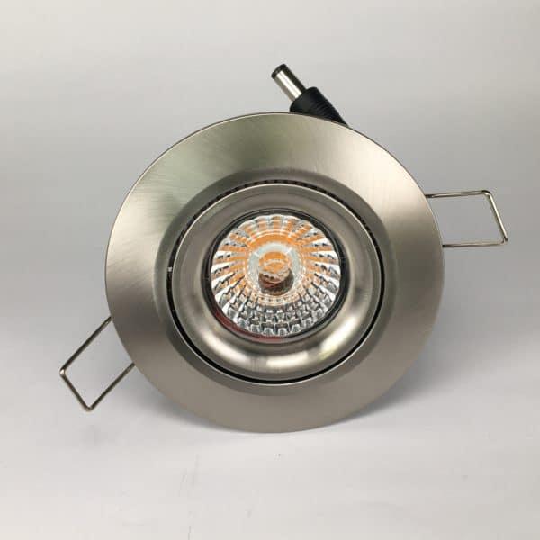 Downlighter Spot IP44 9W 38° dimbaar 2700K nikkel voor