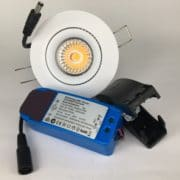 Downlighter Spot IP44 9W 38° dimbaar 2700K wit set