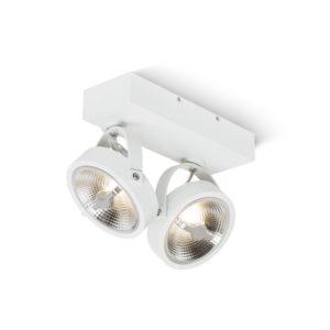 Dubbele opbouw AR111 LED spot Zwart