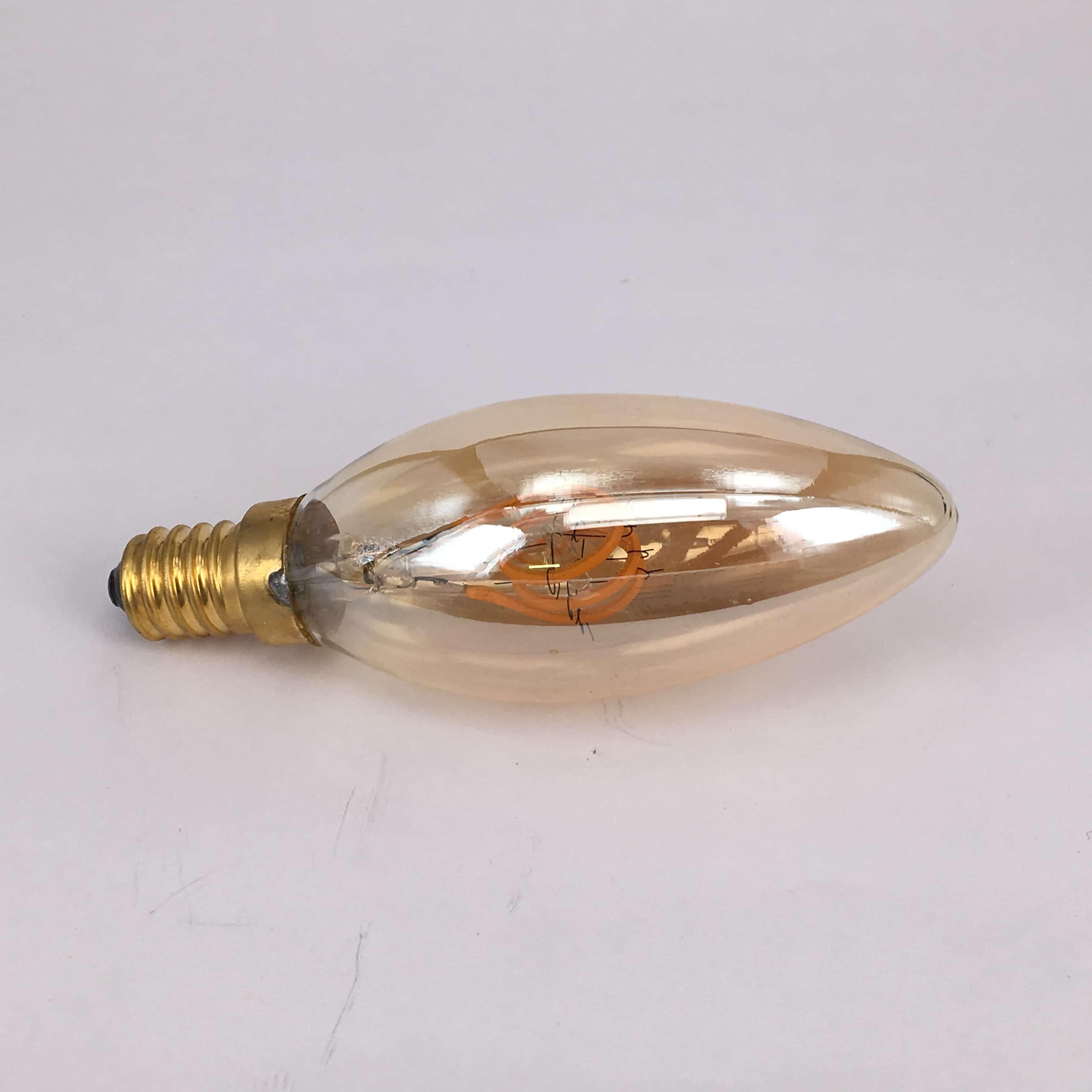 C35 E14 4W filament dimbaar 2200K goud glas volledig