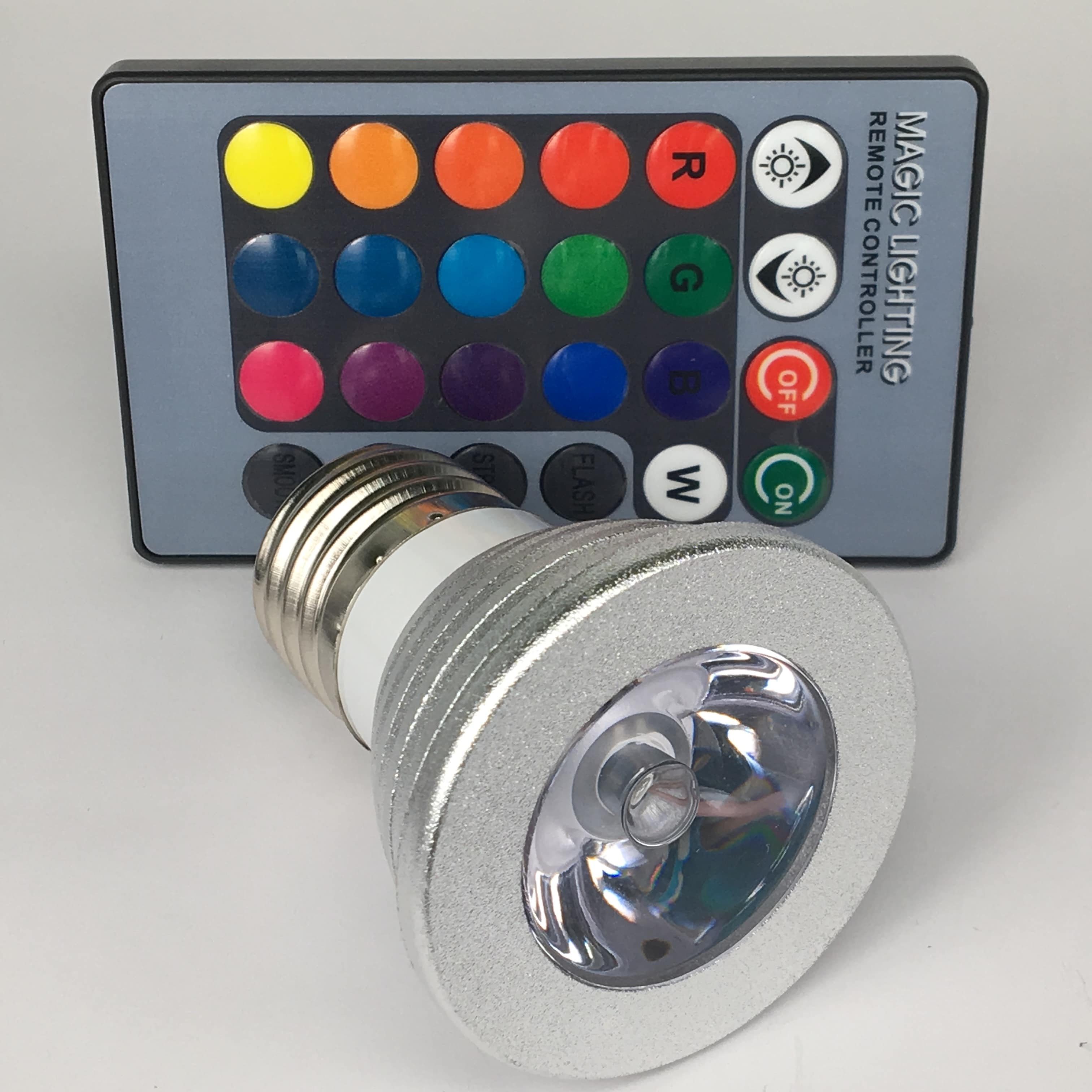 E27 3W dimbaar RGB voor
