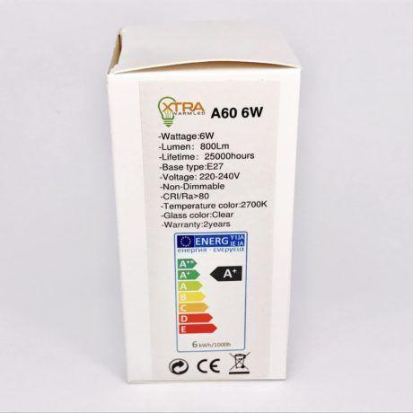 A60 E27 6W filament 2700K verpakking
