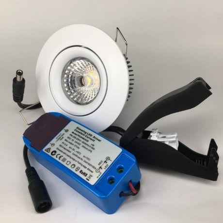 Downlighter Spot IP44 8W 38° dimbaar 2000-2800K wit set