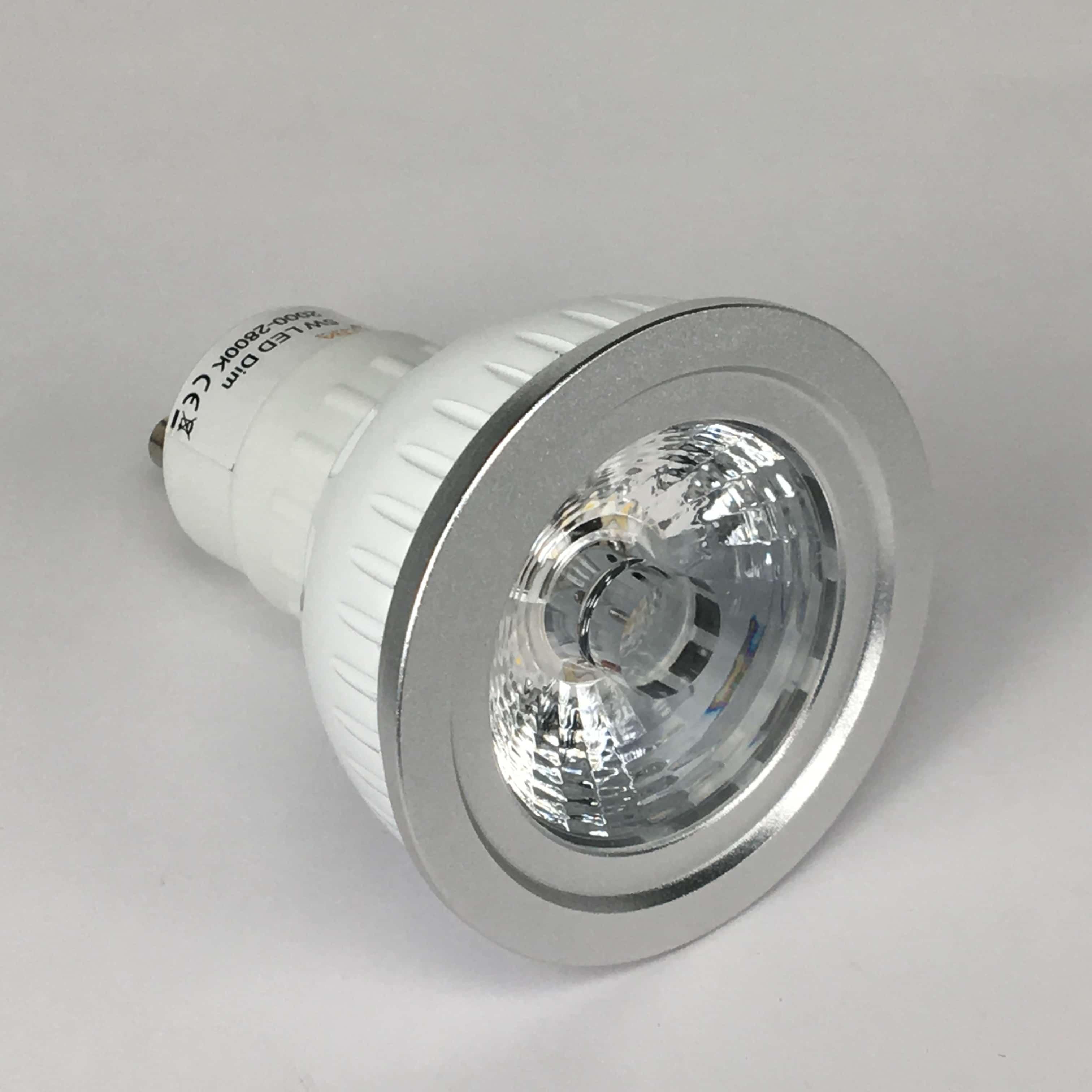 GU10 5W dimbaar 2000-2800K voor