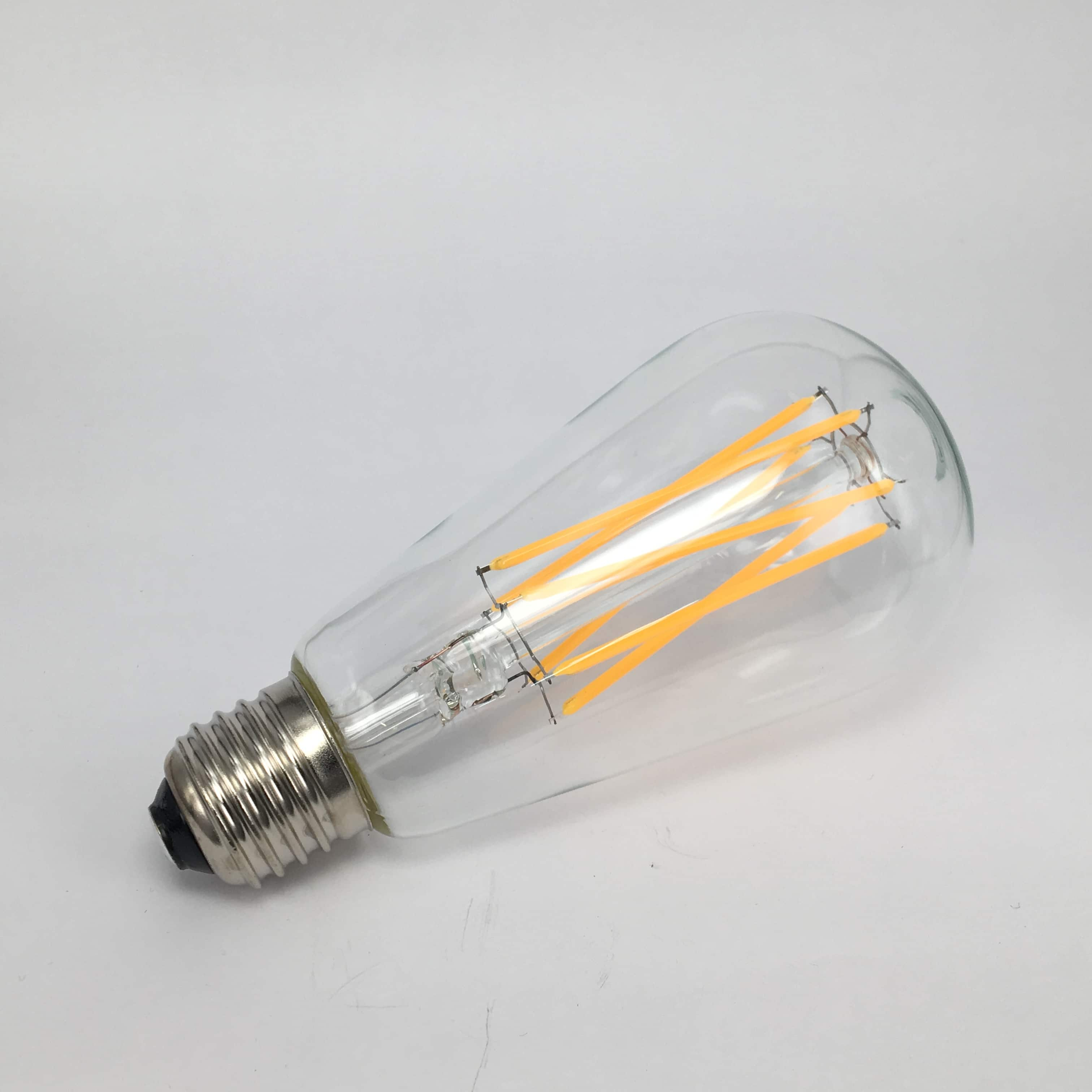ST64 E27 6W filament dimbaar 2200K