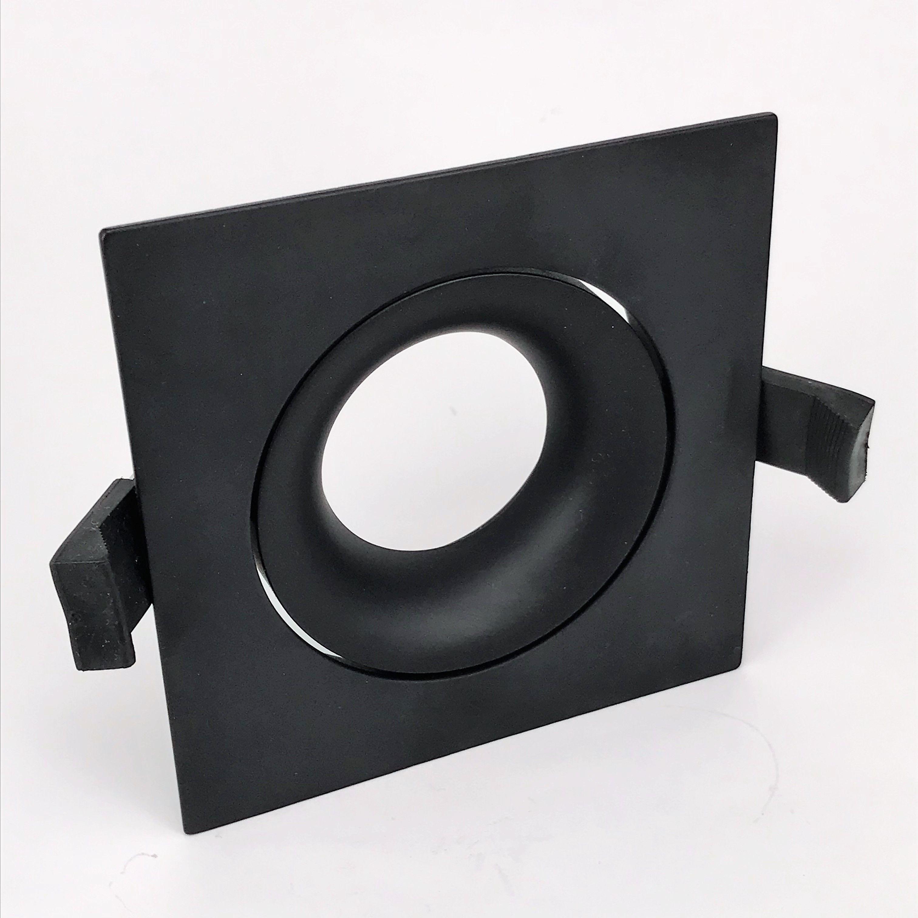Inbouwring 103mm vierkant zwart