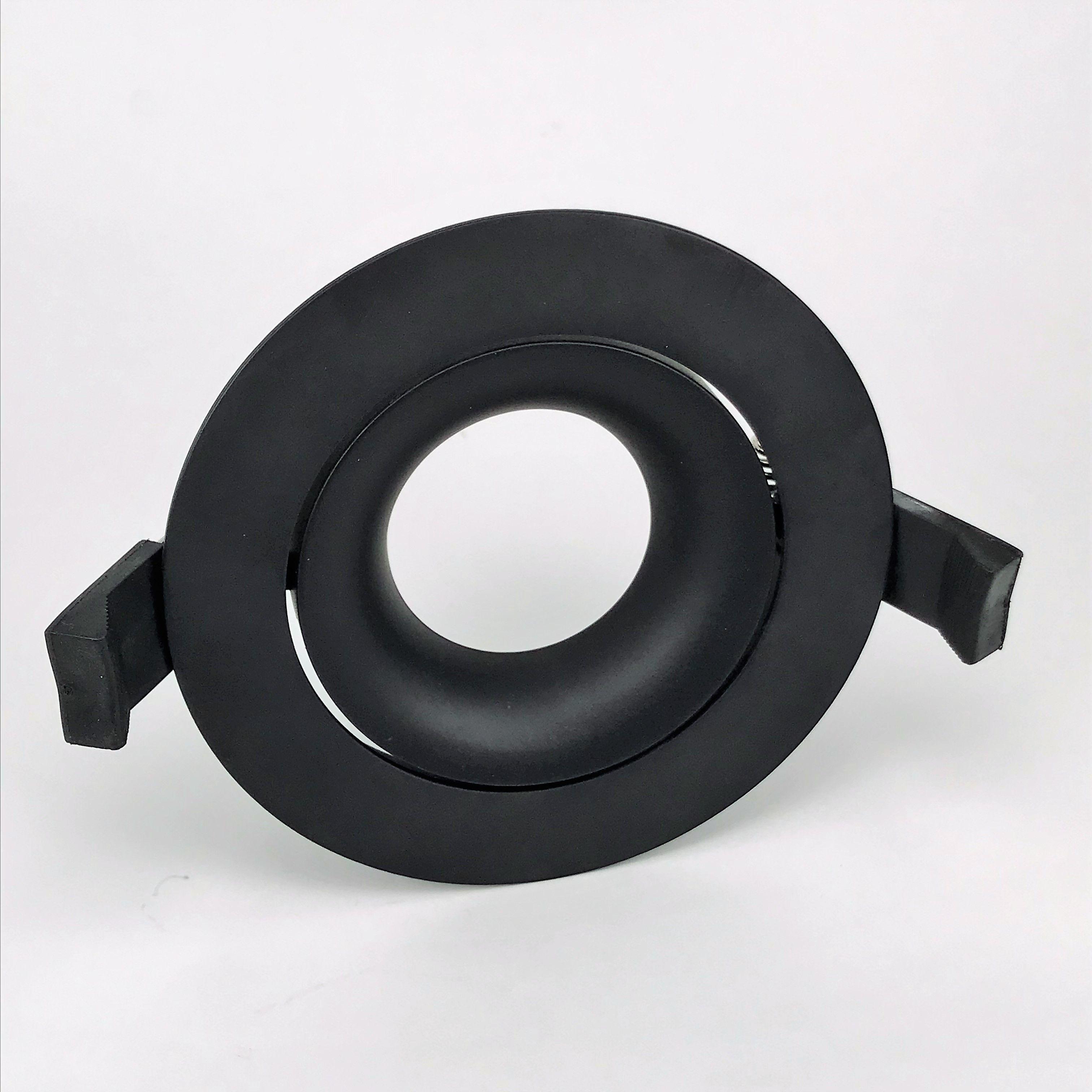 Inbouwring 105mm rond zwart