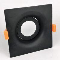 Inbouwring 110mm organisch vierkant zwart