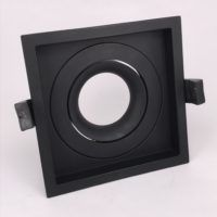 Inbouwring 110mm vierkant instelbaar zwart