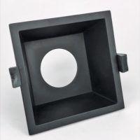 Inbouwring 99mm vierkant zwart