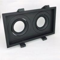 Inbouwring dubbel 200mmx110mm zwart