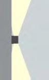 Wandlamp Barcelona stralingshoek