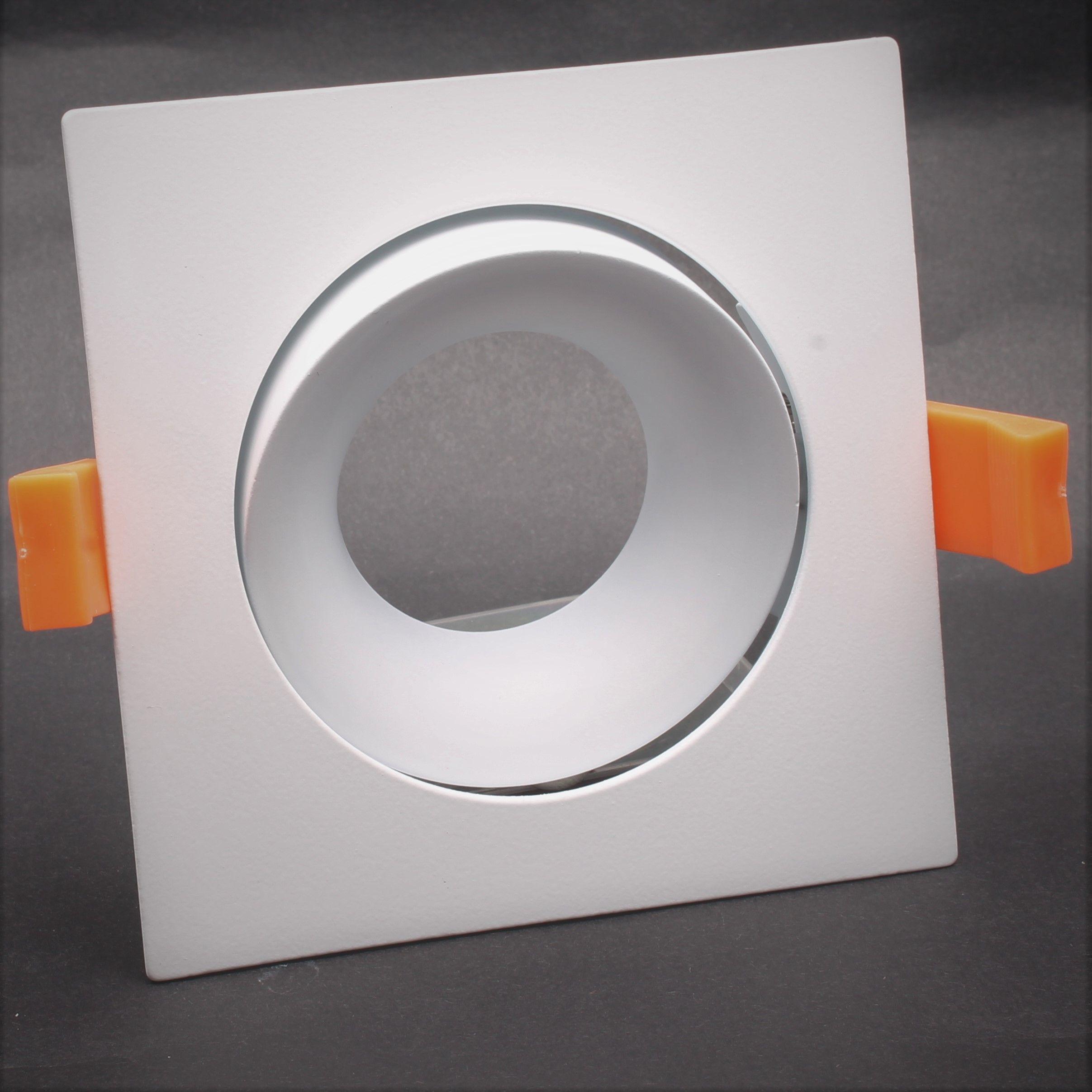 Inbouwring 103mm vierkant wit