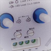 Duo Led dimmer 2 x 100W detail