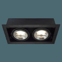 AR111 recessed-trimless dubbel zwart