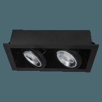 AR111 recessed-trimless dubbel zwart uit