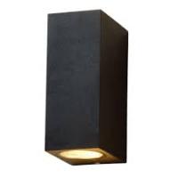 Muurlamp GU10 boven en onder zwart