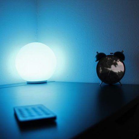 Bollamp 20cm RGB+ W 230V Blauw