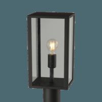 Lantaarn E27 Zwart Glas