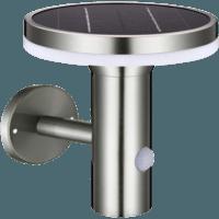 Muurlamp Solar 6W 2700K RVS met bewegingsmelder 2