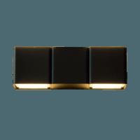 Wandlamp dubbel ovaal 6W 2700K antraciet