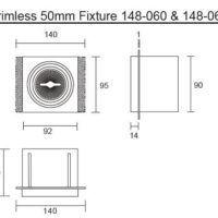 50mm inbouwarmatuur wit Afmetingen 2