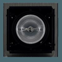AR111 inbouwarmatuur zwart Voorkant