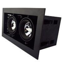 Dubbel 50mm inbouwarmatuur zwart