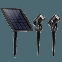 Dubbele buitenspot solar