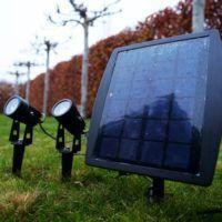 Dubbele buitenspot solar tuin