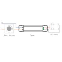 Driver Constantestroom 600mA 25-42VDC aansluitschema