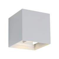 Wandlamp 10x10x10 2x3W 3000K Wit