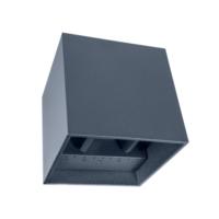 Wandlamp 10x10x10 2x3W 2300K Antraciet