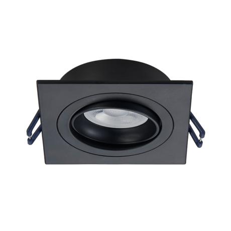 Inbouwring 92x92mm zaagmaat 80mm zwart