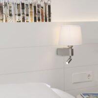 Faro Room wand en bed lamp wit sfeer